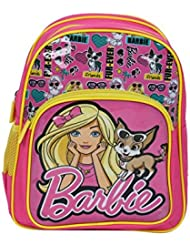 Luggage And Travel Barbie Furever Friends 16 Inches School Bag (Pink)