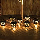Warm White Solar Powered Lantern Party Fairy String Lights by Festive Lights