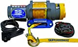 Superwinch 1135230 Terra 35 3500lbs/1591kg single line pull with hawse, handlebar mnt toggle, handheld remote, and synthetic rope