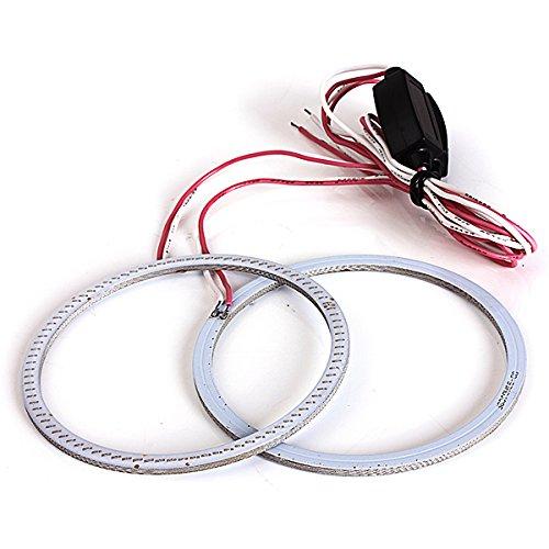 Issec 2 X 80Mm 93Led Ccfl Headlight Cob Angel Eyes Halo Ring Lamp(White)