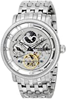 Stuhrling Original Symphony Dt Men's Automatic Watch with Silver Dial Analogue Display and Silver Stainless Steel Bracelet 411.33112