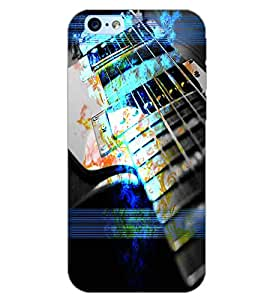 PrintDhaba GUITAR STRINGS D-6644 Back Case Cover for APPLE IPHONE 6S (Multi-Coloured)