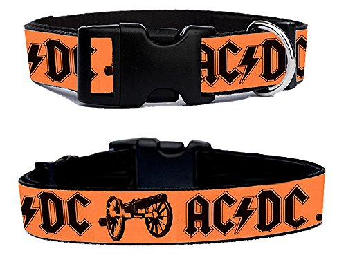 AC/DC For Those About To Rock TDCA Angus Young Collana Cani Dog Collare Regolabile Taglia XL