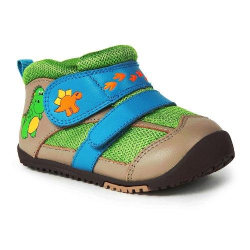 Momo Baby First Walker/Toddler Dinosaur Tan Leather Sneaker Shoes - 4.5 M Us Toddler front-408798
