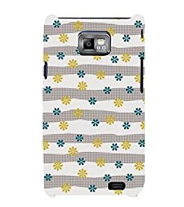 Floral Pattern 3D Hard Polycarbonate Designer Back Case Cover for Samsung Galaxy S2 :: Samsung Galaxy S2 i9100