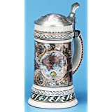 M. CORNELL IMPORTERS 6119 Old World Map Stein (Color: Multicolor, Tamaño: .5 Liters)