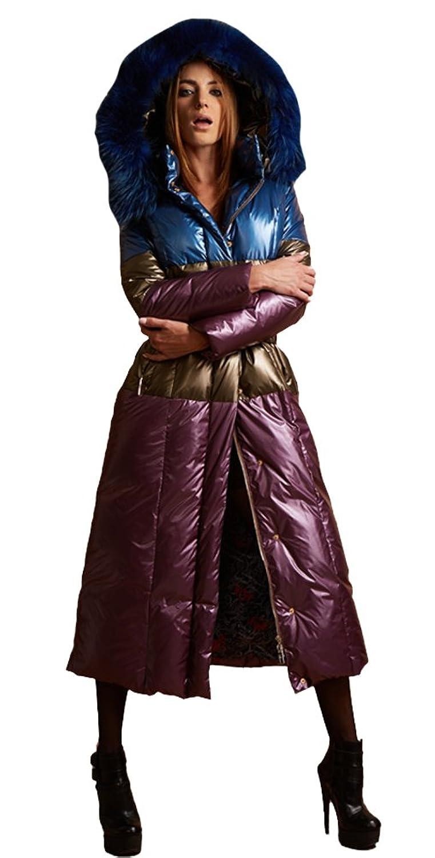 queenshiny Damen Lange Daunenjacke Mantel Jacke mit Waschbär Pelz Kragen mit Kapuze unterhalb der Knie Luxus Winter bestellen