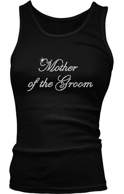 Mother Of The Groom Rhinestone Juniors Tank Top