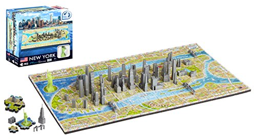 4D Cityscape Mini Puzzle (193 Piece), New York (New York Model compare prices)