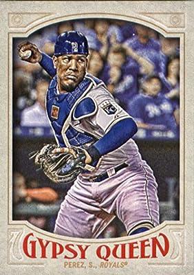 2016 Topps Gypsy Queen #83 Salvador Perez Kansas City Royals Baseball Card in Protective Screwdown Display Case