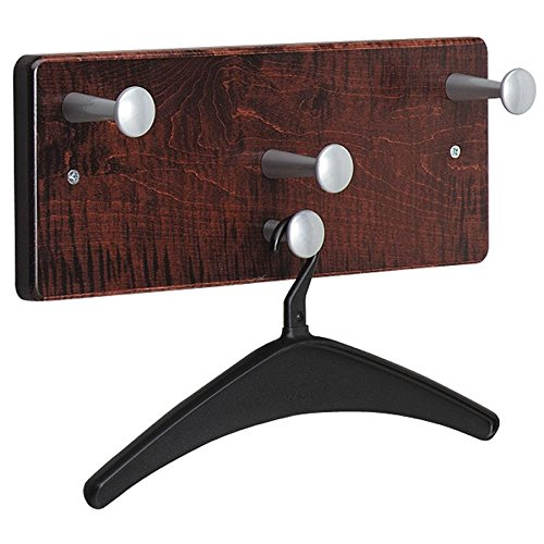 Quartet 20521 Wall Rack, Four Knobs/Two Hangers, Wood, Mahogany (Quartet Coat Rack compare prices)