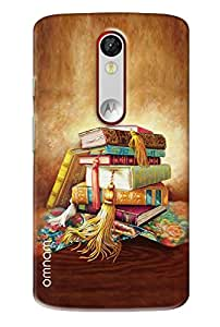 Omnam Booked Painted One On Each Other Printed Back Cover Case For Motorola Moto X Force