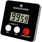 MARATHON TI080006-BK Digital 100 Minute Timer w/ Magnetic Clip - Black, Batteries Included