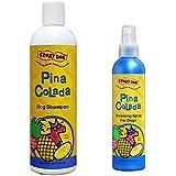Crazy Dog Shampoo, Pina Colada Scent, 12 Ounces, And Crazy Dog Grooming Spray, Pina Colada Scent, 8 Ounces