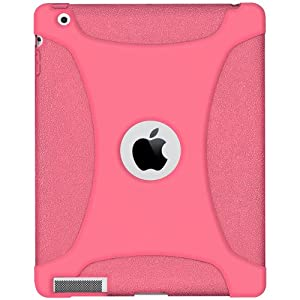 Amzer Silicone Skin Jelly Case for Apple iPad 2 - Baby Pink (AMZ90798)