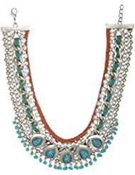 Eclatant Jewels Blue Silver Plated Choker Necklace For Women (EJ-Nk-BohTurq)
