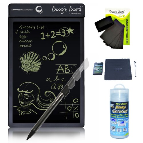 Boogie Board Lcd Writing Tablet With Boogie Board Magnet Kit And Shammy Cleaning Cloth