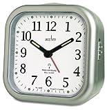 Acctim 71387 Liberty Alarm Clock, Silver
