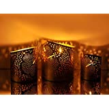 Logam Golden Flower Tea Light Holders ( Set Of Three)