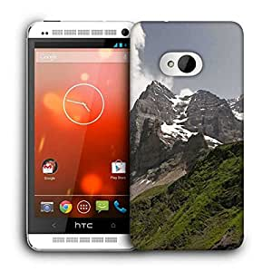 Snoogg Snow In Mountains Printed Protective Phone Back Case Cover For HTC One M7