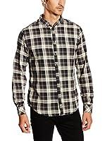 Blend Camisa Hombre (Gris / Blanco / Negro)