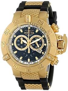 Invicta Subaqua Men's Quartz Watch with Black Dial  Chronograph display on Black  strap 5514