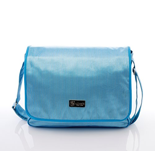 Ulitimate Baby / Diaper Bag And Organizer (3 Pieces)-Blue Stripe front-535721
