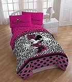 ChatAngle(TM) Disney Minnie Zebra Comforter Pink