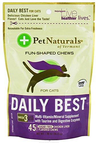 Pet Naturals Of Vermont - Daily Best For Cats Soft Chews Chicken Liver Flavored - 45 Chewables (Pack Of 2)