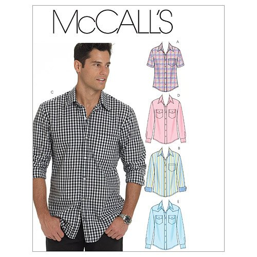 McCall's Patterns M6044 Men's Shirts, Size XN (X-XXL-XXXL) (Mens Sewing compare prices)