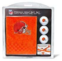 NFL Cleveland Browns Embroidered Golf Towel (3 Golf Balls/12 Tee Gift Set)