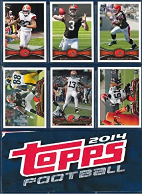 Cleveland Browns 2012, 2013, 2014 Topps Football complete team sets including Johnny Manziel Rookie Card (RC) shipped in an acrylic case. All 3 sets ship in September after 2014 Topps Football is released. Includes Manziel, Josh Gordon, Trent Richardson a