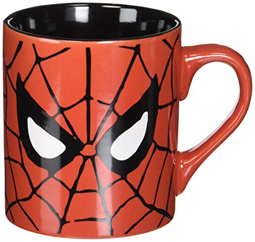 Silver Buffalo MC7032 Marvel Comics Spider-Man Eyes Coffee Mug, 14-Ounces