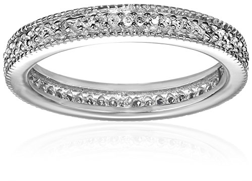Sterling Silver Diamond Stackable Band Ring (1/4 cttw), Size 6