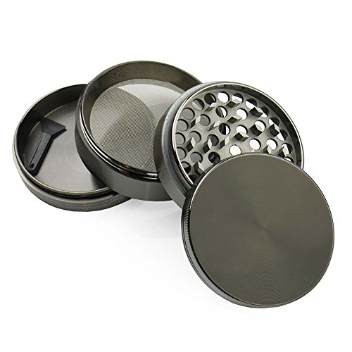 ChefLand Zinc Crusher 2.5 Inch 4 Piece Tobacco Spice Herb Grinder (Weed Grinder Poker Chip compare prices)