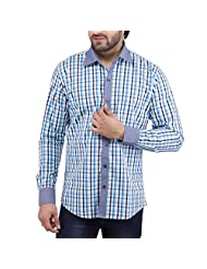 Tag & Trend Men's Slim Fit Casual And Party Wear COBALT BLUE Shirt By TRADIX INNOVATIONS