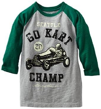 Eddie Bauer Kids Big Boys' 3/4 Sleeve Raglan T-Shirt, Heather Grey, Medium 10/12