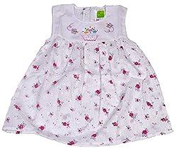 Be BeBo Girl's cotton Regular Fit Dress (550, Rose, 2-3yrs)