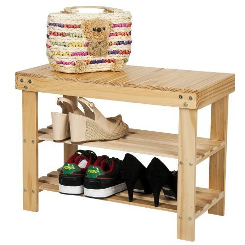 Furinno fncj 33019 pine solid wood shoe rack natural new for 3200 diamond eight terrace