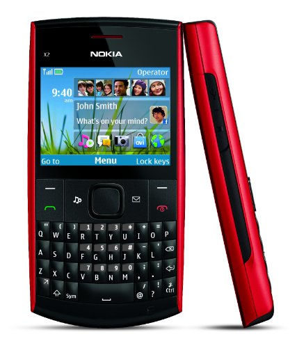 Nokia X2-01 Unlocked GSM Phone-U.S. Version with Warranty (Black/Red)