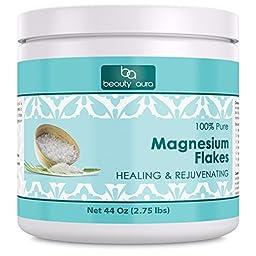 Beauty Aura 100 % Pure magnesium Flakes Healing & Rejuvenating (44 Oz)