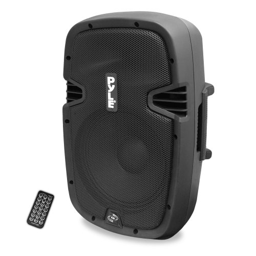 Pyle Pphp837Ub 8-Inch 600 Watt Bluetooth Speaker System With Usb Flash Reader, Aux/Mp3 Input And Included Remote Control