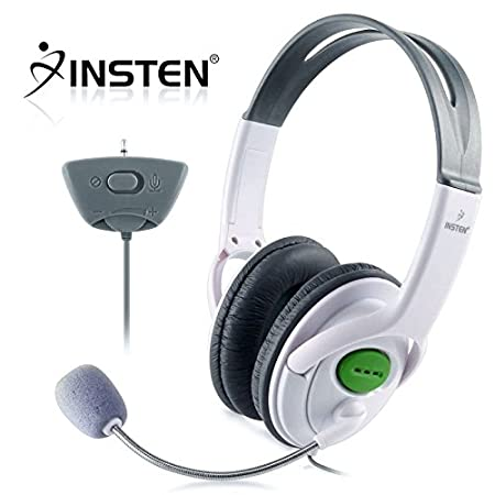 Insten Headset Headphone with Mic Compatible with Xbox 360 Wireless Controller