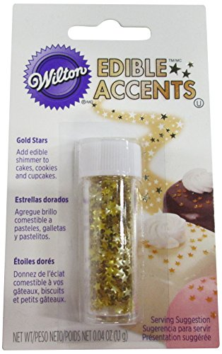 Wilton Edible Glitter, Gold Stars, 0.04 Ounce (Glitter Icing compare prices)
