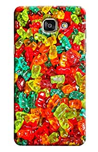 Blue Throat Colored Jelly Belly Pattern Printed Designer Back Cover For Samsung Galaxy A7 2016