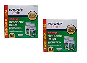 Equate Extra Strength Headache Relief 2-Pack  Compare to Excedrin Extra
