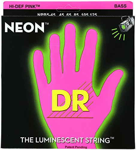 Dr Strings Npb5-45 Nickel Coated Bass Guitar Strings, Medium