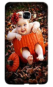 Omnam Very Cute Girl Sitting In Fruit And Smiling Desinger Back Cover Case For Samsung Galaxy C7
