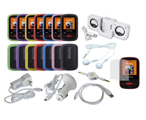 Ishoppingdeals - Lot Item Bundle Accessory Kit Set Combo For Sandisk Sansa Clip Sport Mp3 Player (Sdmx24) front-1037636