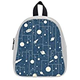Cute Little Pattern Group Soft PU Backpack School Bag